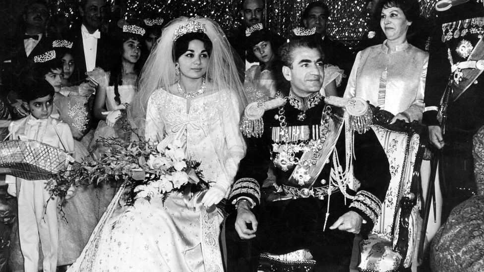 Farah married the Shah of Iran, Mohammad Reza Pahlavi, in December 1959 (Credit: Getty Images)