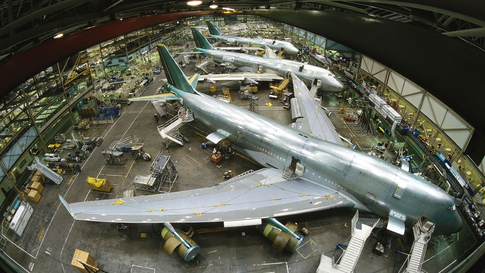Boeing 747s at Everett (Credit: Getty Images)