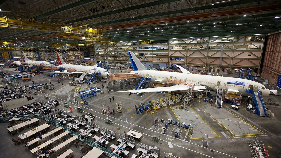 The factory now produces the newer generations of Boeing airliners (Credit: Getty Images)