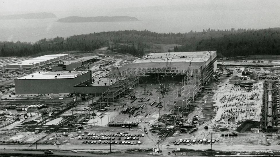 Boeing had to build the new factory at the same time it was designing the 747 (Credit: Boeing)