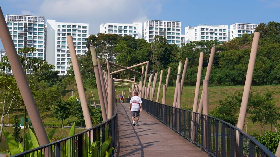In 1960 just 9% of Singaporeans lived in public housing; today that figure is nearly 80%, with more than 90% of residents owning their homes (Credit: Alamy)