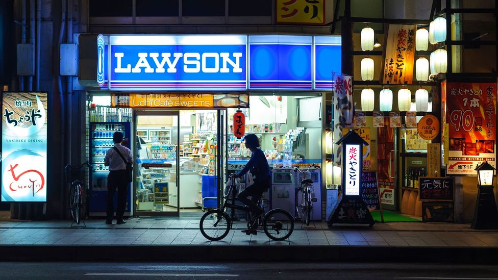 The 24-hour convenience stores that blanket Japan have come to rely heavily on cheap, foreign workers from overseas (Credit: Alamy Stock Photo)