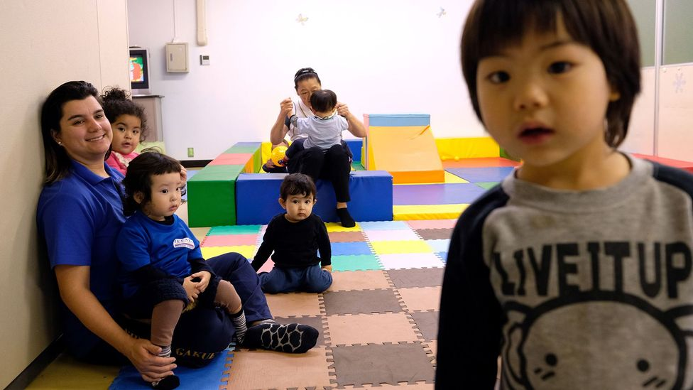Brazilian children in a Portuguese language school in Japan in October. Language barriers are an oft-cited complaint from parents of immigrant kids (Credit: Getty Images)