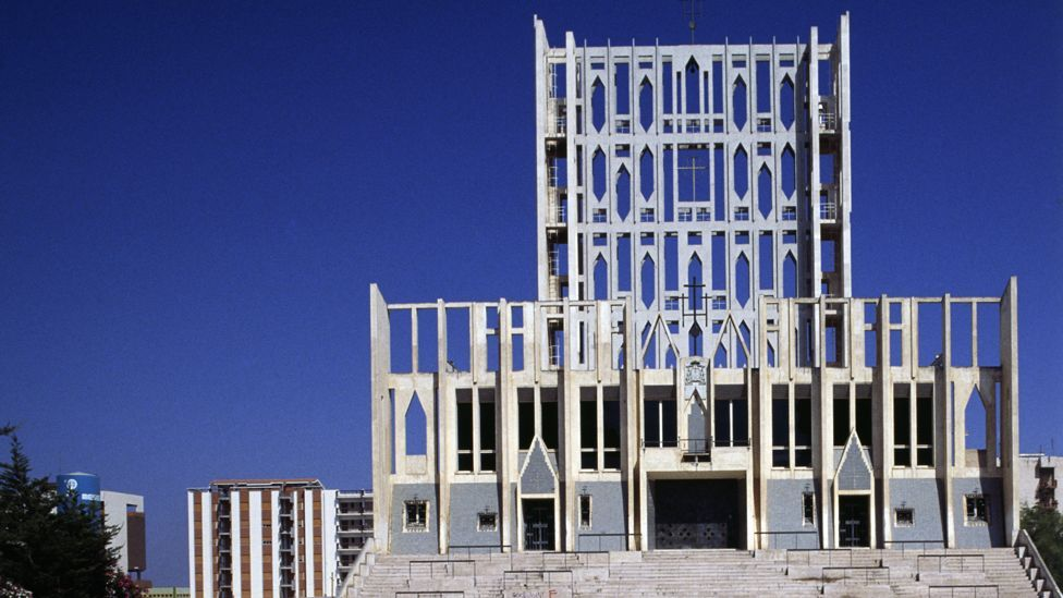 Ponti's idiosyncratic Roman Catholic cathedral in Taranto, Italy, shows his exuberant take on modernism (Credit: Getty Images)