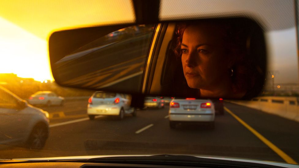 Being stuck in frustrating queues on busy roads can eat up many hours of motorists' day, reducing the time they have to do something more productive (Credit: Getty Images)