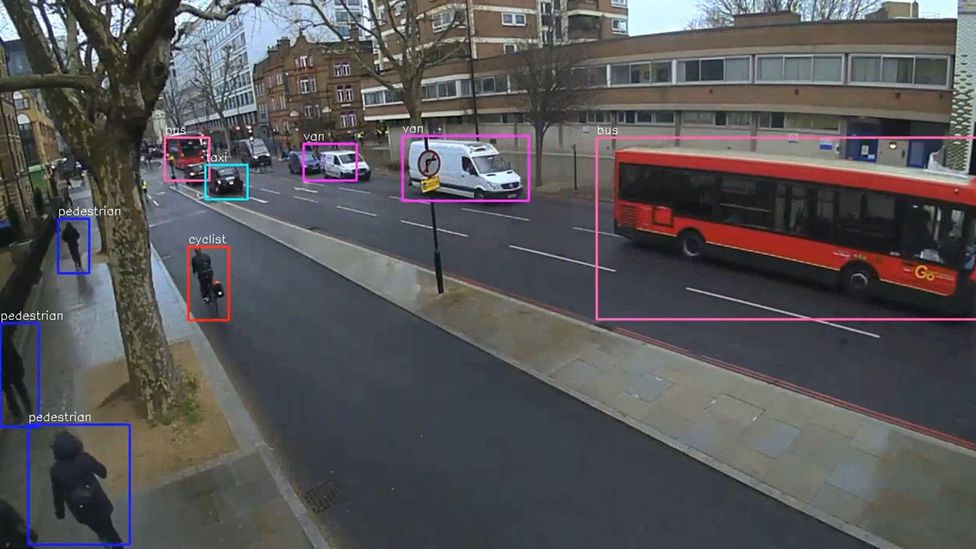 Smart cameras at junctions can automatically identify different road users, allowing the traffic management system to adapt according to their needs (Credit: Vivacity Labs)
