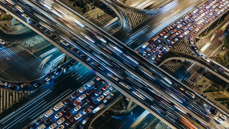 Soaring numbers of cars and lorries on roads around the world is creating a headache for motorists as they find themselves stuck in traffic jams (Credit: Getty Images)