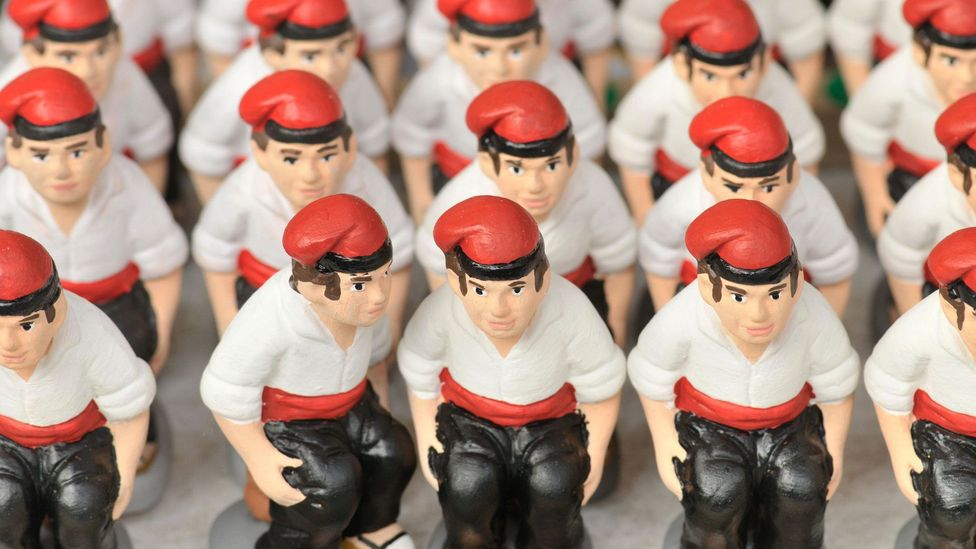 The caganer, or 'defecator', is a staple of Christmas in Spain's Catalonia region (Credit: Campillo Rafael/Alamy)