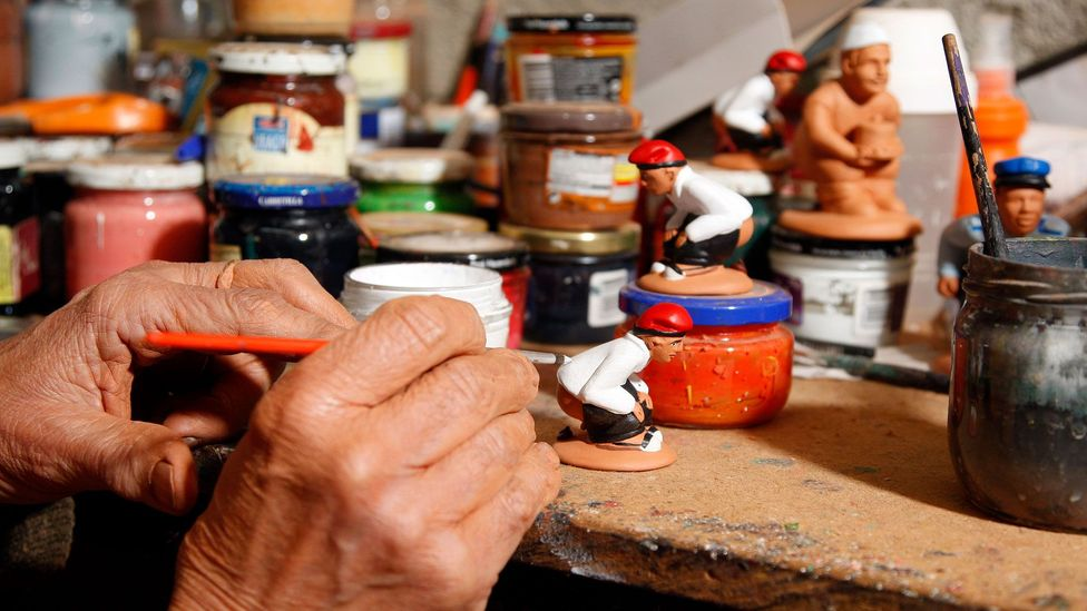 Catalans have a relaxed view of the caganer, seeing them as merely depicting a natural act as opposed to being uncouth (Credit: Miquel Benitez/Getty Images)