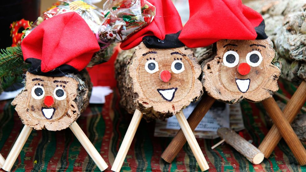 Another Catalan Christmas tradition, the Caga Tió defecates presents after children hit him with a stick (Credit: Emilio Ereza/Alamy)
