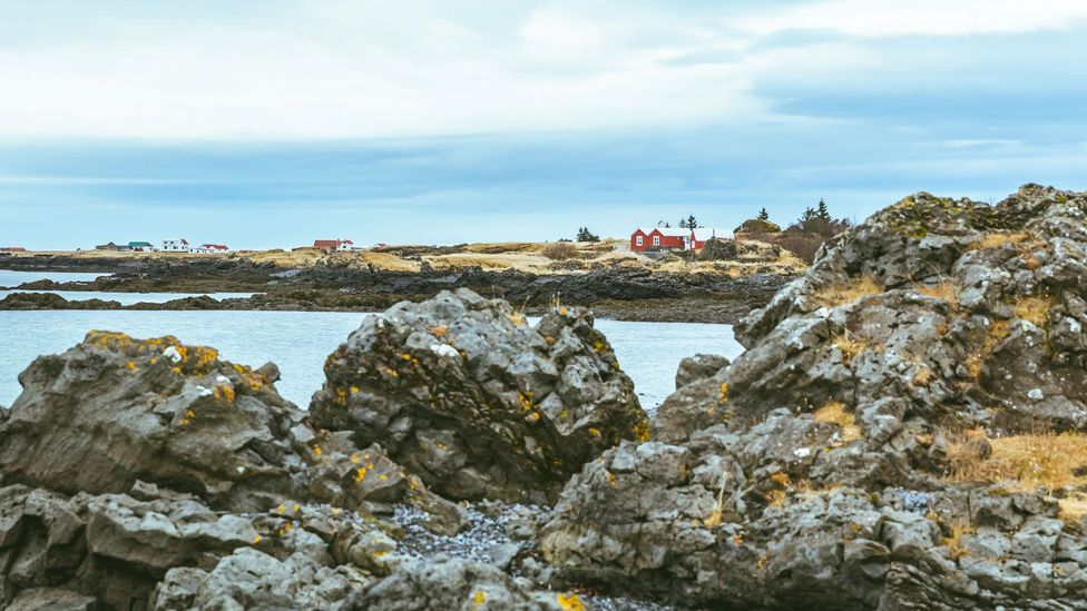 It is believed that elves and huldufólk make their homes inside large rocks found mainly on beaches and lava fields (Credit: Ian Young)