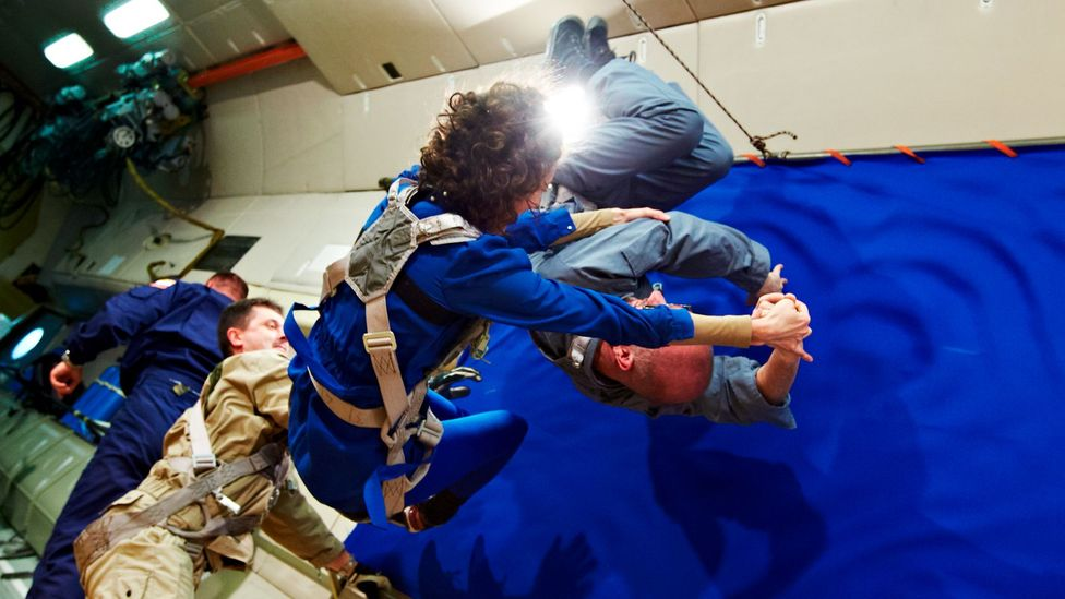 Nahum and other artists travelled to Russia to experience the closest thing to zero-gravity on Earth (Credit: Courtesy of Space Affairs)