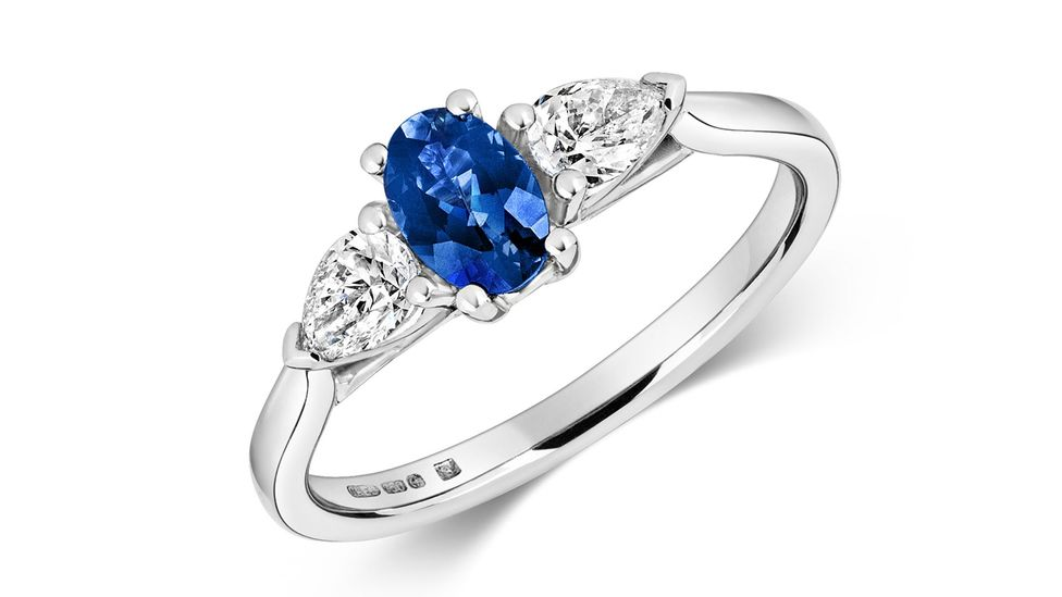 A sapphire ring by Cred, which is at the forefront of the ethical jewellery movement (Credit: Cred)