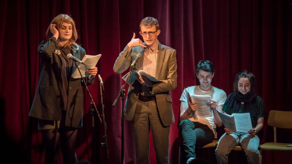 Dreamgun Film Reads is recorded in front of a live audience, by actors who haven't read the script before (Credit: Dreamgun / Ste Murray)
