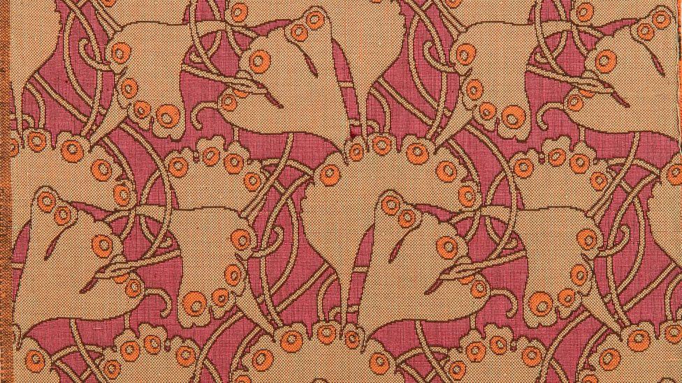 Koloman Moser, fabric pattern Palmenblatt (Palm Leaf), 1898, made by Joh. Backhausen & Söhne (Credit: MAK/Katrin Wißkirchen)
