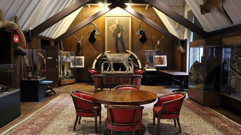 The Explorers Club's New York headquarters houses around 1,000 artefacts collected by its members (Credit: Mike MacEacheran)
