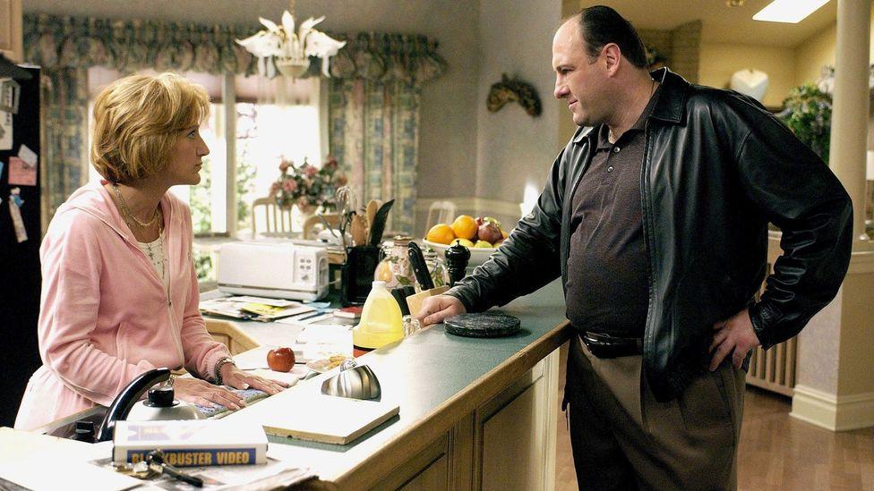 "James Gandolfini as Tony Soprano and Edie Falco as his wife Carmela were ""landmark performances"" (Credit: Alamy)"