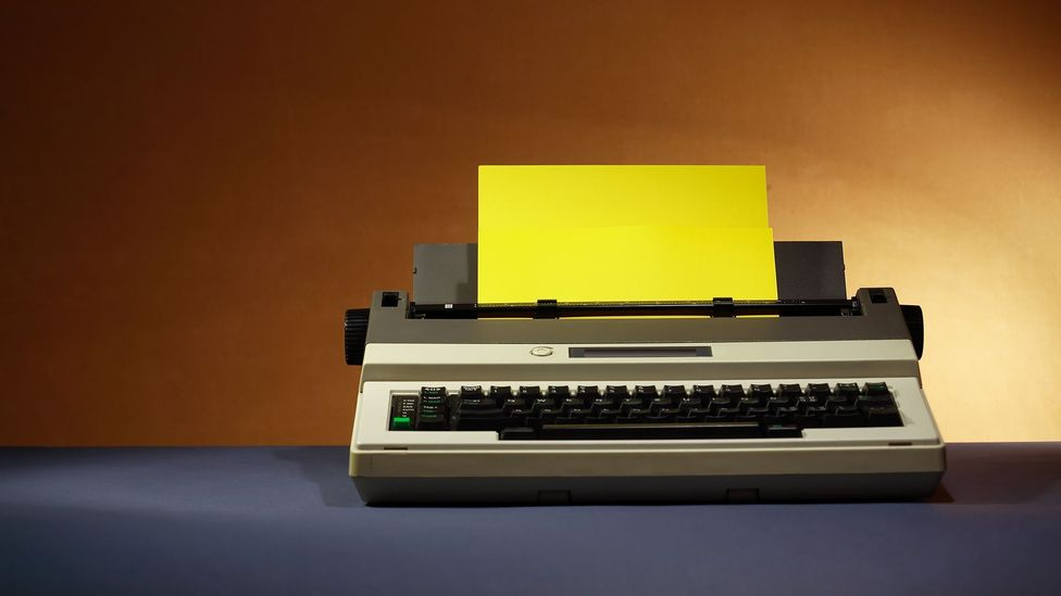 The borough's purchasing department were forced to dust off their old typewriters because all computers were impounded (Credit: Getty Images)