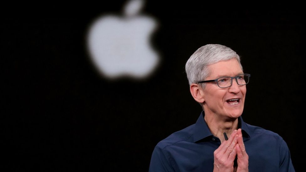 Tim Cook's estimated pay is more than 250 times the average worker's annual salary in America (Credit: Getty Images)