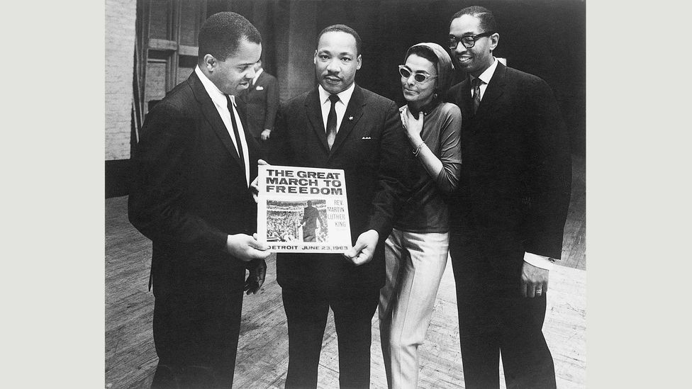 On the Gordy label, Motown released an album of Martin Luther King's address to the Freedom Rally held in Detroit on 23 June 1963 (EMI Archive Trust and Universal Music Group)