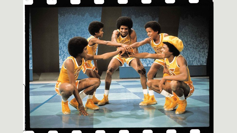 The Jackson 5 taping their ABC TV network special, Goin' Back to Indiana, in LA July 1971 (Courtesy of EMI Archive Trust and Universal Music Group)