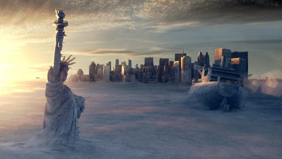 The film The Day After Tomorrow imagines a climate change-ravaged future as a catastrophe (Credit: Alamy)