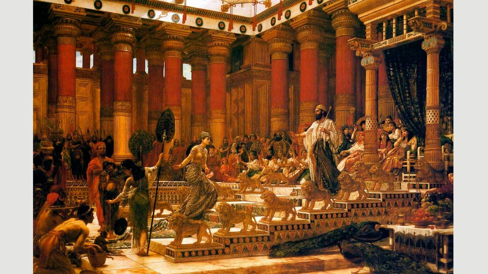 Edward Poynter's 1890 painting, the Visit of the Queen of Sheba to King Solomon, is another instance of whitewashing (Credit: Alamy)