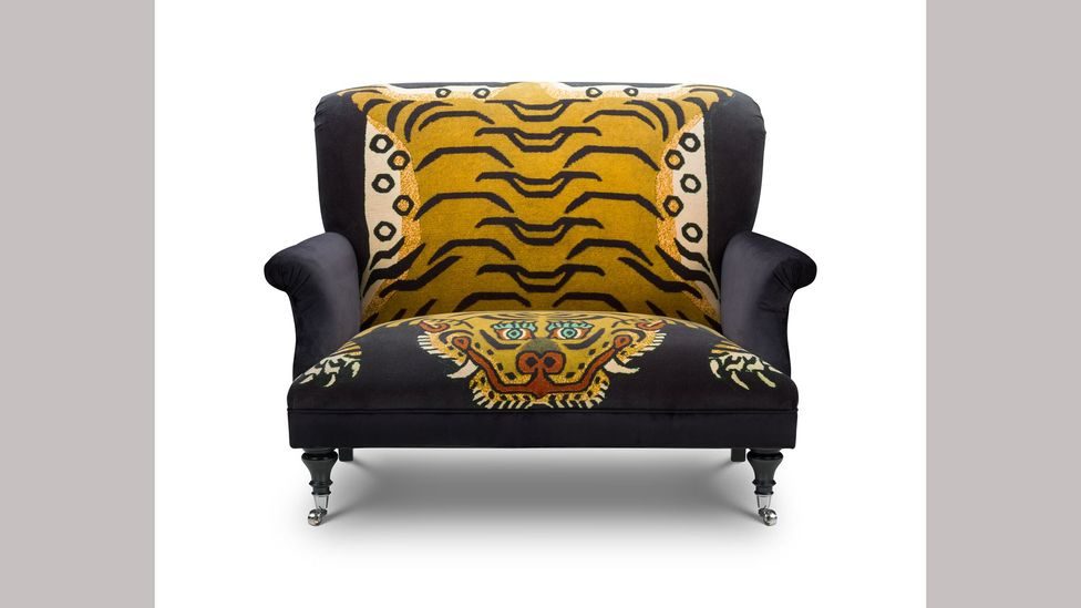 The Saber motif by house of Hackney is based on the Tibetan tiger-rug tradition (Credit: House of Hackney)