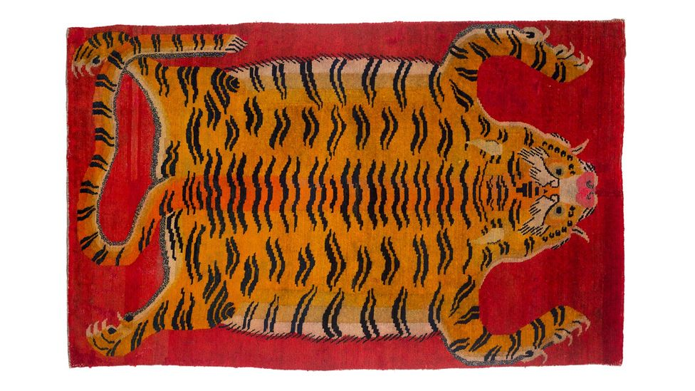 A Tibetan rug with flayed-tiger motif, created in the first half of the 20th Century (Credit: Dan Fontanelli)