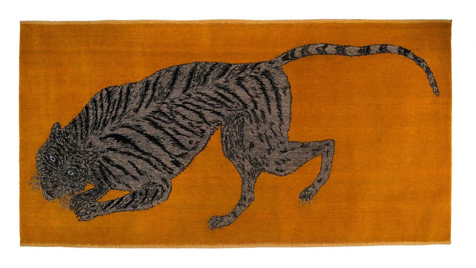 Kiki Smith is among the artists who have created rugs for a project to promote awareness about tiger welfare (Credit: Kiki Smith/ Courtesy Timothy Taylor, London, New York)
