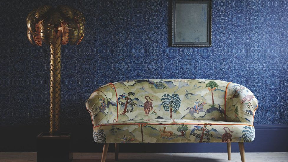 The Aesop fabric design by Linwood is adorned with motifs from nature, including tigers (Credit: Linwood Fabric/ www.linwoodfabric.com)