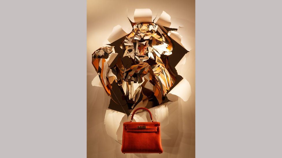 Artist Anna-Wili Highfield created a sculpture for the window of a Hermès store (Credit: Marcel Aucar)