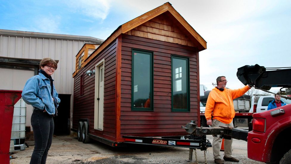 Some tiny home owners can't fit all their belongings in their house, so they end up using external storage spaces anyway (Credit: Alamy Stock Photo)