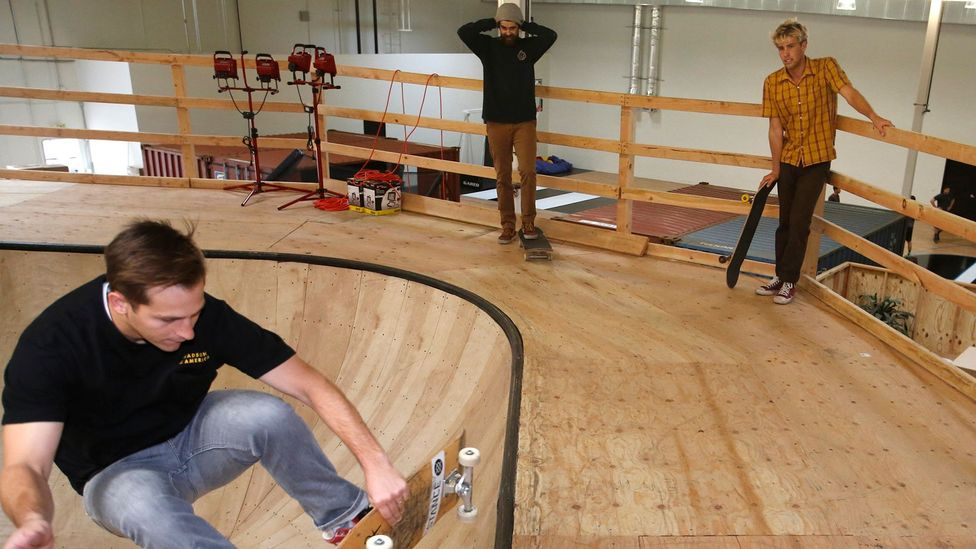 This California-based designer sock company sports an on-site skate park, basketball court and gym (Credit: Getty Images)