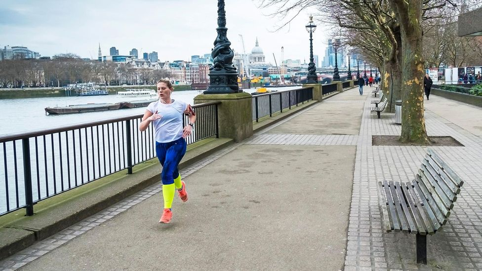 Squeezing in a jog or walk around the block during your break is one way of tacking on exercise during the day (Credit: Alamy Stock Photo)