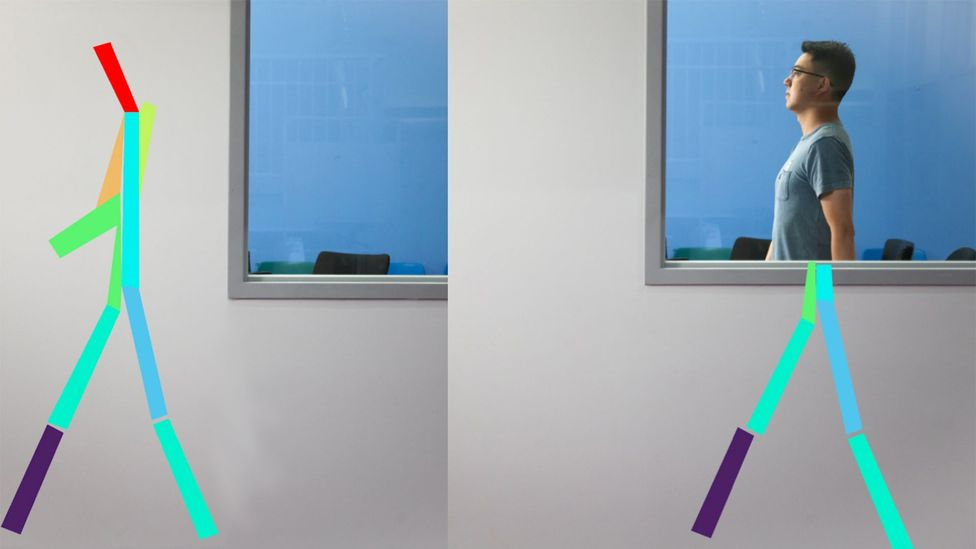 Wireless signals that can pass through walls can be used to monitor a patient's posture, breathing and even sleep for early signs of illness (Credit: Jason Dorfman/MIT CSAIL)