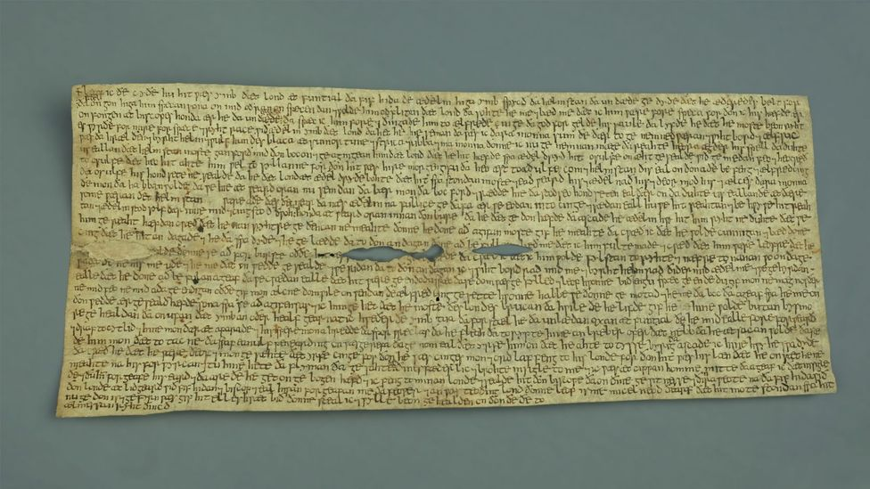 The Fonthill Letter, early 10th Century (Credit: Reproduced courtesy of the Chapter, Canterbury Cathedral)