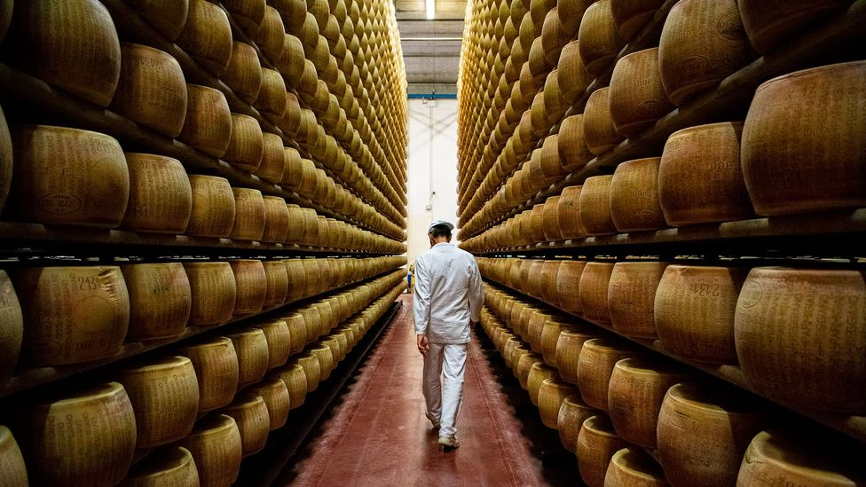 Parmigiano-Reggiano is aged anywhere from two to 20 years to develop a rich flavour and aroma (Credit: Amanda Ruggeri)
