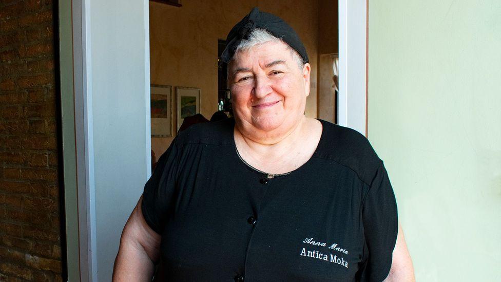 "Chef Anna Maria Barbieri: ""[Parmigiano is] my weakness. I really do put it everywhere"" (Credit: Amanda Ruggeri)"
