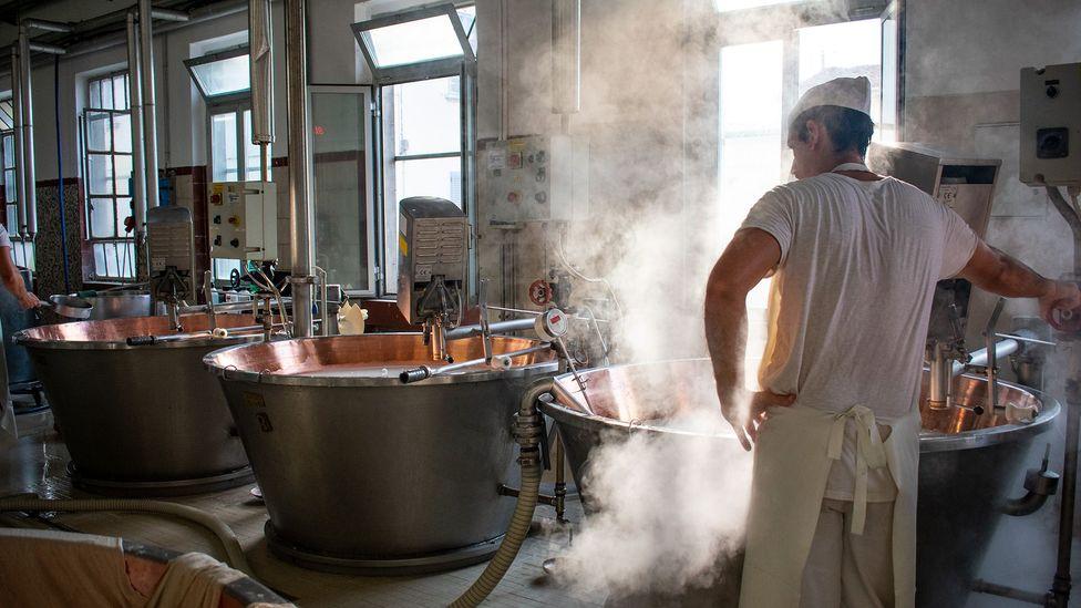 It takes 14 litres of milk to make 1kg of Parmigiano-Reggiano (Credit: Amanda Ruggeri)