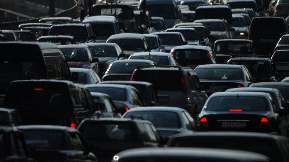 It's thought that air pollution from sources such as exhaust fumes could change the gut microbiome, leading to iinflammation (Credit: Getty Images)