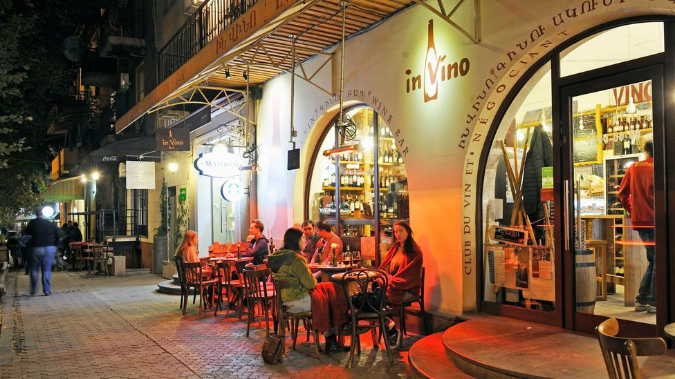 In Vino was the first specialist wine bar and shop to open in Armenia's capital, Yerevan (Credit: age fotostock/Alamy)
