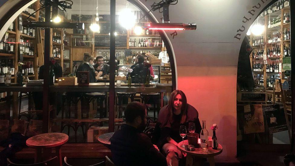 Some Yerevan locals believe the seeds of change were sowed in the wine bars along Saryan Street, now dubbed 'Wine Street' (Credit: Martin Guttridge-Hewitt)
