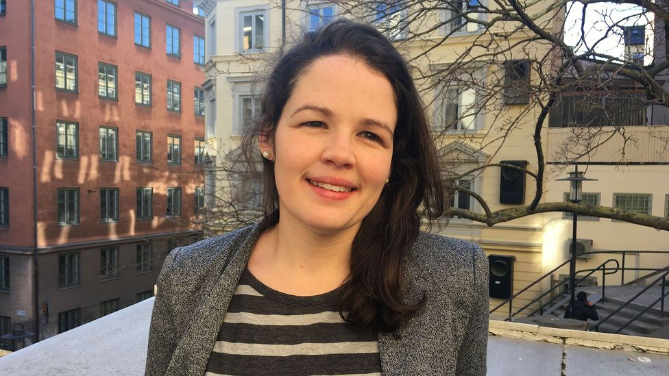 Claire Ingram Bogusz is a post-doctoral researcher at Stockholm School of Economics who's studied the country's entrepreneur leave system (Credit: Maddy Savage)