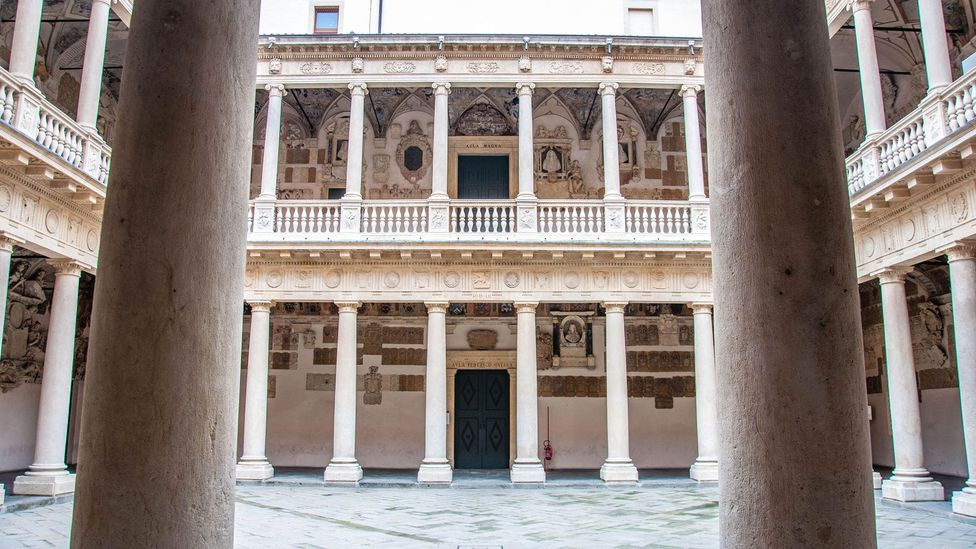 Andreas Vesalius performed dissections of human bodies in the courtyard of the Palazzo Bo (Credit: Rossi Thomson/Reproduced by concession of the University of Padua)