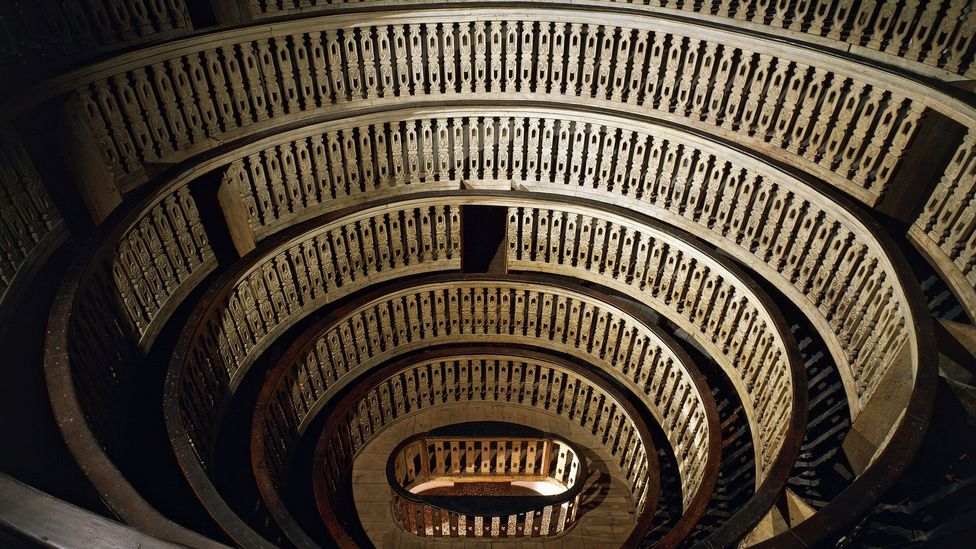 The world's first permanent anatomical theatre was built in the Palazzo Bo in the late 16th Century (Credit: DEA / A. DAGLI ORTI/Getty Images)