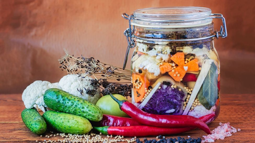 Vegetables and pickle jar (Credit: Getty Images)