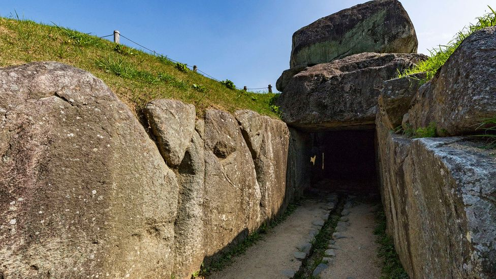 Between the 3rd and 6th Centuries AD, large tombs known as Kofun began appearing as the social hierarchies in Japan changed (Credit: Getty Images)