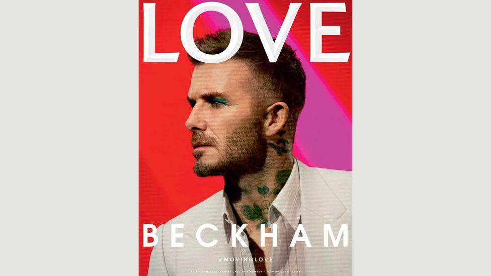 David Beckham on the cover of LOVE magazine (Photography: Call This Number – Steve Mackey and Douglas Hart, Creative Direction: Katie Grand, Make Up: Miranda Joyce)