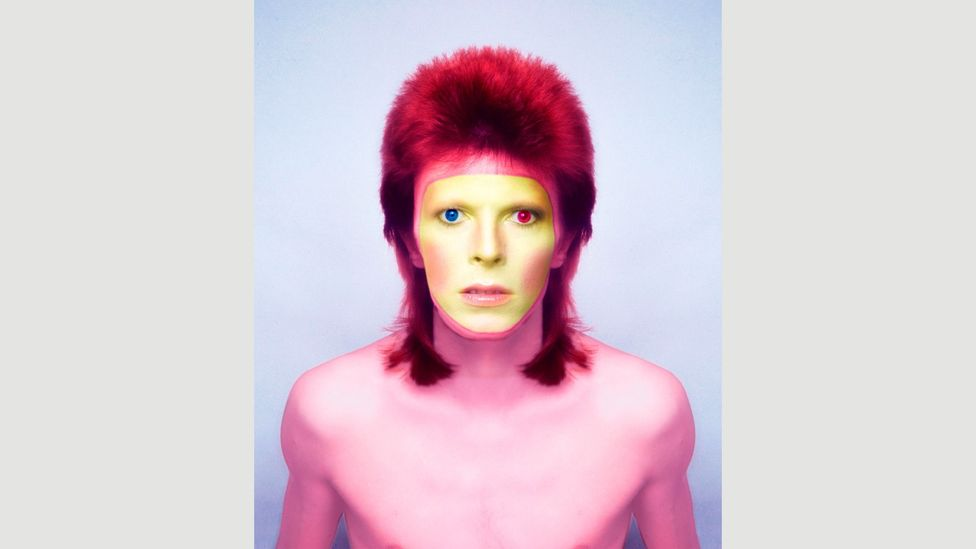 David Bowie, pictured in 1973, famously experimented with cosmetics (Credit: Getty Images)